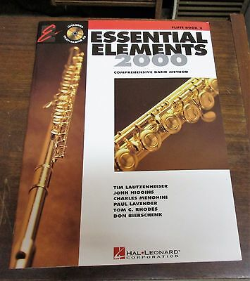 Essential Elements 2000 Flute for Band Book 2 Hal Leonard Corp. with CD