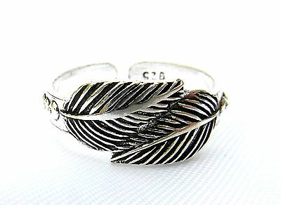 Sterling Silver (925) Adjustable  Leaf  Twist  Toe Ring  !!     Brand New !!