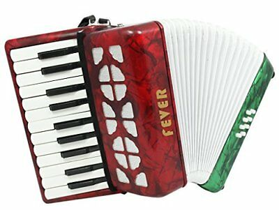 Fever Piano Accordion 22 Keys 8 Bass, Red, White, Green