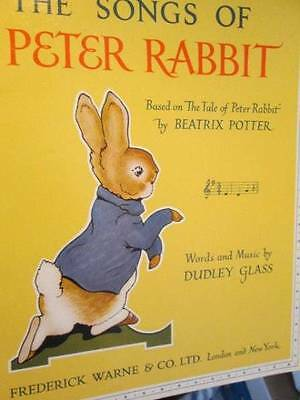 Songs Of Peter Rabbit Music Book-Dudley Glass, Paperback, 1985