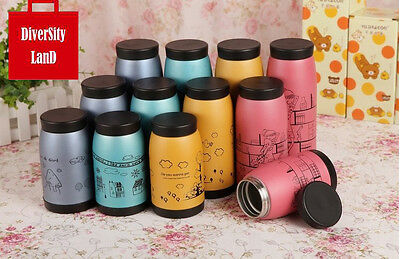 Cute Stainless Steel Tea Water Coffee Flask Mitch Vacuum Thermos Cup Travel Mug