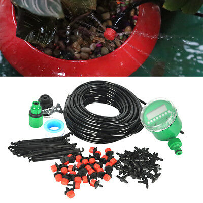 2016 DIY Micro Drip Irrigation System Plant Potted Self Watering 25m Garden Hose