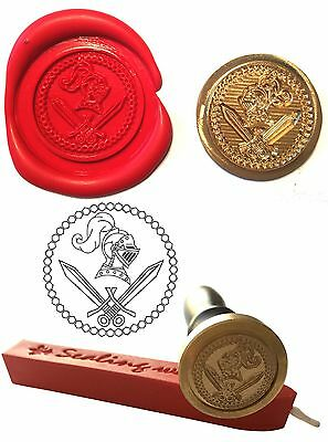 Wax Stamp Seal  SWORDS & KNIGHT Museum Game of Thrones Envelope Craft Card  216
