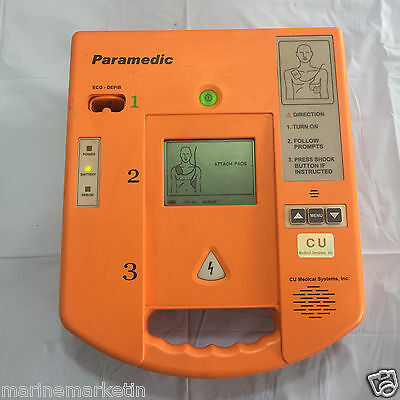 Paramedic AED-CU-ER1 Difibrillator with ECG Function. Made in Korea. Free Ship
