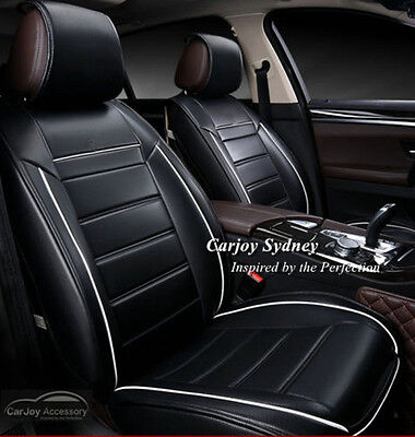 Black White Leather Car Seat Cover Toyota Camry Altise Aurion Prius Rav4 Hilux