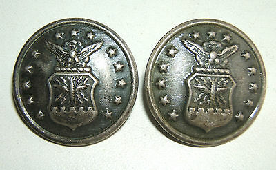 LOT DE 2 BOUTONS US AIR FORCE  -  29 mm - L & R METAL PROD. CORP. Fonds Cuvettes