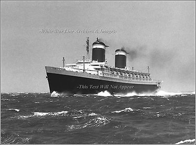 Photo: SS United States Smashes QM Riband Record In English Channel July, 1952