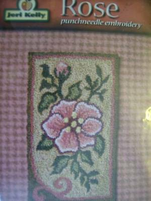 Jeri Kelly Punchneedle Embroidery Rose OR Rooster Your Choice