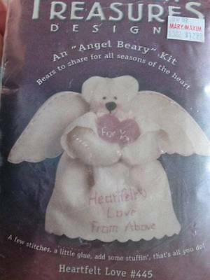 "Heartfelt Love ""Angel Beary"" Sewing Craft Kit 7 inches-Homespun Treasures #445"