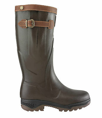 Aigle Wellies Parcours 2 Signature - Full Grain Leather - 84255 Brun
