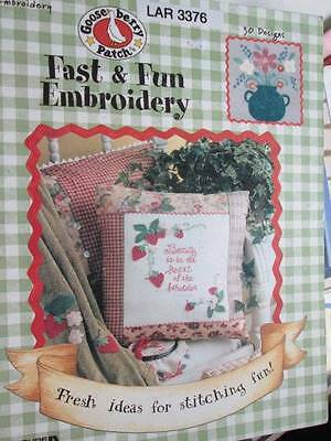 Gooseberry Patch Fast & Fun Embroidery Book-30 Designs