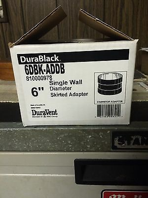 "DuraVent DuraBlack 6"" Skirted Stovepipe/top Adapter 6DBK-ADDB"