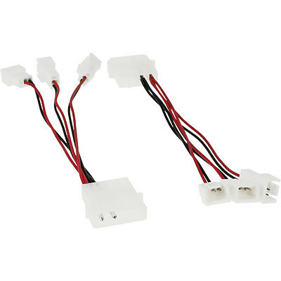 InLine Fan Adapter Cable, 12V to 5V, for 3 fan