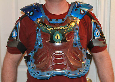 SixSixOne 661 Body Armor Chest Protector Blue Size Adult