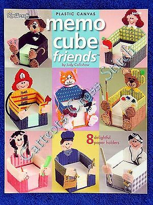 Plastic Canvas Pattern Memo Cube Friends Teacher Doctor