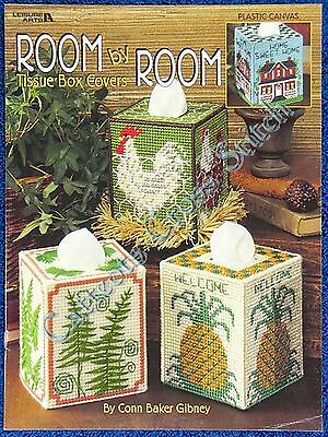 Plastic Canvas Pattern Room By Room Tissue Box Cover 3D Pinwheel Yacht Chook