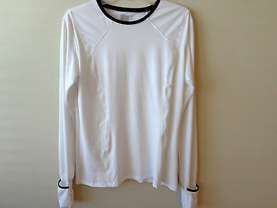 Lucky In Love Women's Tennis/golf Shirt Ct88 Size Extra Large White Nwt