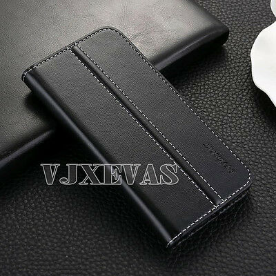 Genuine Real Luxury Wallet Magnetic Flip Leather Case Cover For Samsung Galaxy