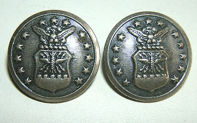LOT DE 2 BOUTONS US AIR FORCE  -  23 mm - WATERBURY BUTTON Co - FONDS CREUX