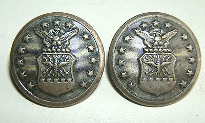 LOT DE 2 BOUTONS US AIR FORCE  -  23 mm - WATERBURY BUTTON - FONDS CUVETTES