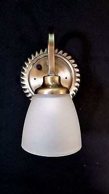OPTRONICS RV 12 Volt Single BRASS Wall Light with Push Button Switch  NEW