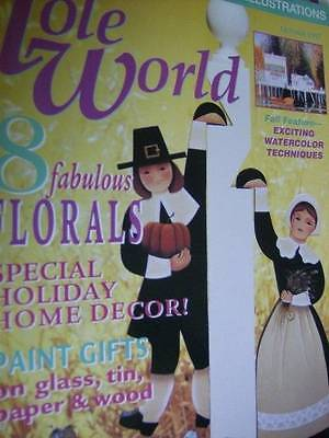Tole World Magazine October 1997-Grapes/Bleeding Heart/Stovepipe Angel/Indian Co