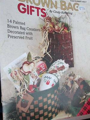 Brown Bag Gifts Painting Book-Kettering-14 Creations Decorated With Preserved Fr
