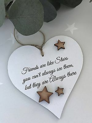 Friends are like stars Heart Sign Plaque giftware keepsake S43