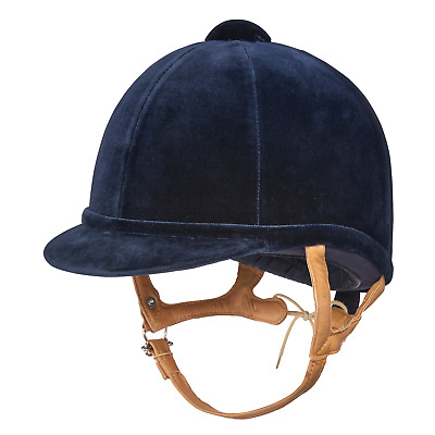 Charles Owen Fian Riding Hat - Navy With Flesh Harness