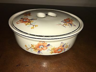 Coors USA Thermo Pocelain Hawthorne RARE small Covered Dish Tortilla Warmer