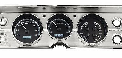 1964 to 1965 Chevelle SS Dakota Digital Black Alloy & White VHX Analog Gauge Kit
