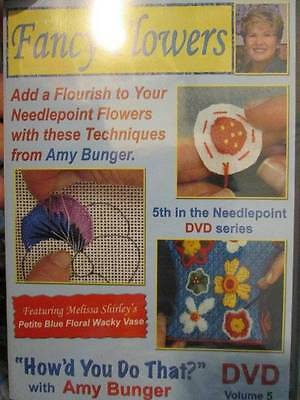 Fancy Flowers How'd You Do That DVD Volume 5 Needlepoint Series-Amy Bunger