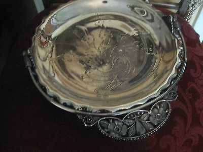 Silverplated Pairpoint Quadruple Plate Server With Handle