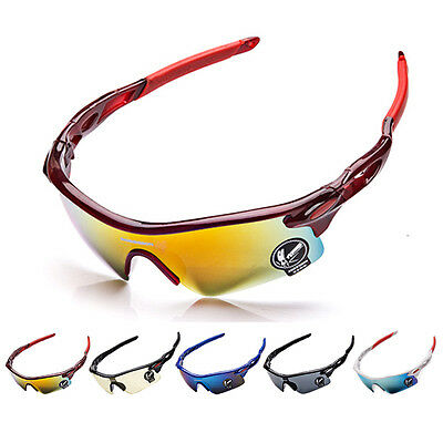 Cycling Glasses Goggles UV Bicycle Bike Sunglasses Color White