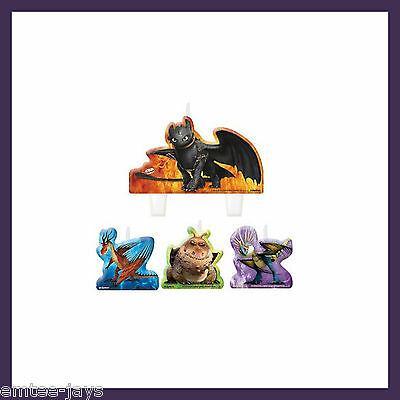 How to Train Your Dragon 2 Candles - Birthday Cake - Moulded - 4 candles AUST!