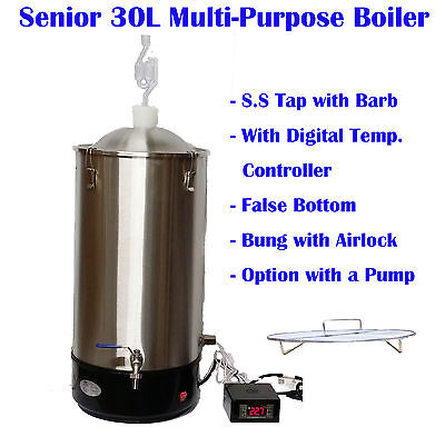 Senior 30L Multi Purpose Electrical Boiler Mash tun-Fermenter-Sparging heater