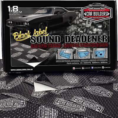 BLACK LABEL 20sq/ft Car Sound Deadener insulation material w/ application roller
