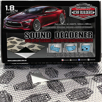 CAR SOUND DEADENER - Stage 1, EXTREME Audio noise control dampening Sheets