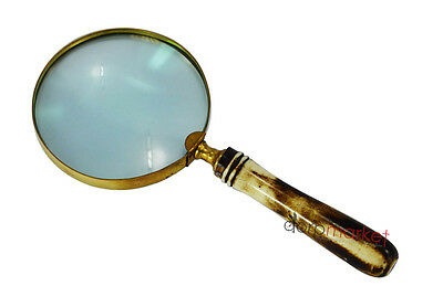 5 X magnification with handdy Stylist Black Bone  handle magnifying glass