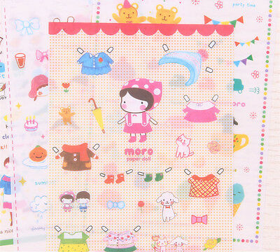 6 sheet sweet day decoration album notebook diary transparent sticker pack