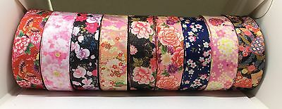 10M X 22mm Grosgrain Ribbon Craft DIY Cake Decoration Bows - Floral Collections