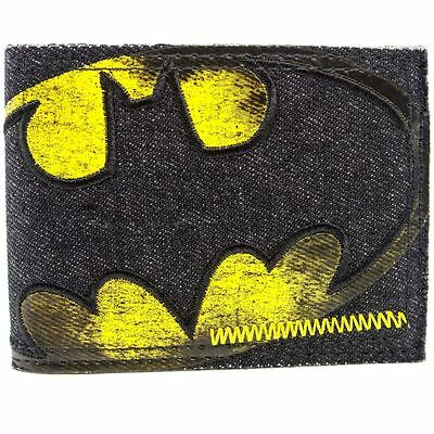 New Official Dc Comics Batman Stitched Multicoloured Id & Card Bi-Fold Wallet