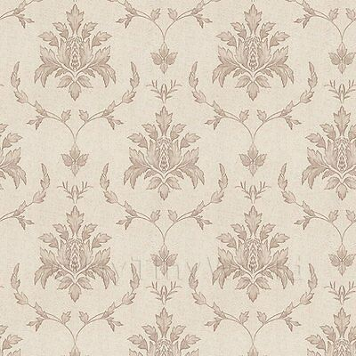 Dolls House Miniature Large Leafy Damask Wallpaper