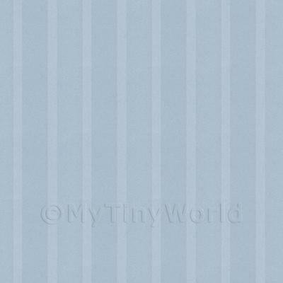 Dolls House Miniature Thick Blue Striped Wallpaper