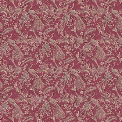 Dolls House Miniature Gold Peacock On Red Wallpaper