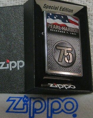 ZIPPO  MILITARY lighter  PEARL HARBOR 75th Anniv. SPECIAL EDITION  Mint in  Box
