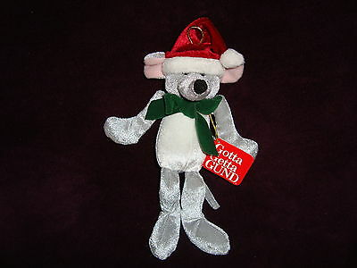 Gund Jolly Jiggles #8705 Mouse Plush Christmas Ornament W/Tags