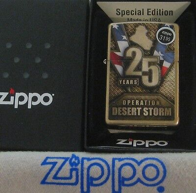 ZIPPO  MILITARY lighter OPERATION DESERT STORM  25 YEARS Special Edition MIB