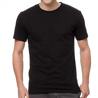 1 x Mens Plain 100% Cotton Blank T-shirt Tee Black Bulk Cheap Wholesale Tee