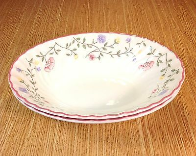 "JOHNSON BROTHERS Summer Chintz 9"" x 7"" Oval Vegetable Serving Bowls (2) ENGLAND"